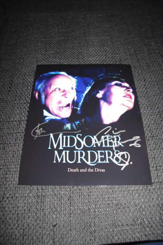 JOHN CARSON & CAROLINE MUNRO signed autographed MIDSOMER MURDERS Photo InPerson