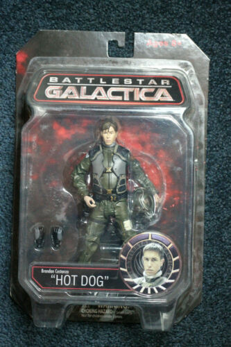 Brendan Hot Dog Costanza Battlestar Galactica Action Figure DST Variant MIB