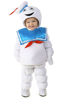 Ghostbusters STAY PUFT Marshmallow Man Costume Puffed KIDS Childs 3T 3 4T 4 5 6](Ghostbusters Kids Costume)