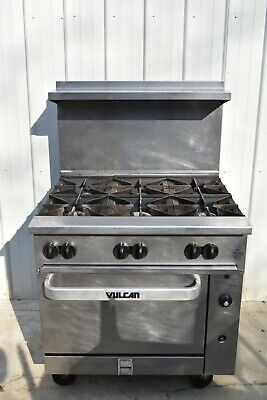 Vulcan 36s-6bn Endurance Natural Gas 6 Burner Range With Oven