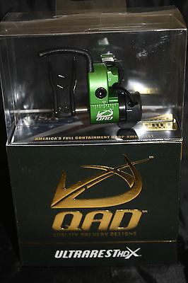 QAD Ultra Rest HDX Green Drop Away Arrow Rest Right Hand Free Knife DVD
