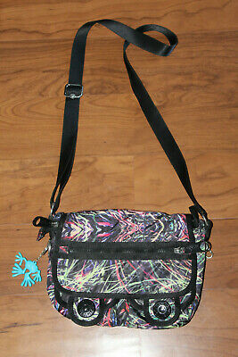 KIPLING blk multi color shoulder bag.....