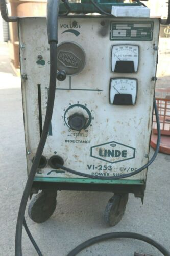 LINDE (UNION CARBIDE) WIRE FEED WELDER, MODEL V1-253, 250 AMPS, COMPLETE,