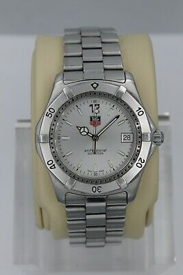 Tag Heuer 2000 WK1112.BA0311 Classic Professional Watch Mens SILVER Mint Crystal