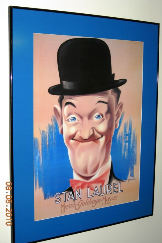 Laurel & Hardy MGM Posters - (French? 1938?)  Framed - TERRIFIC Condition