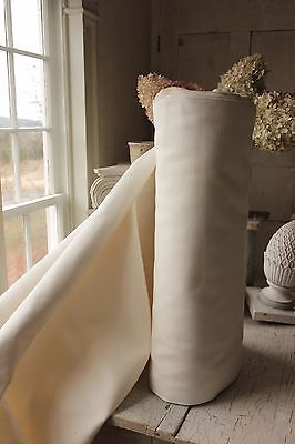 Vintage French HEAVY weight cotton bolt PER YARD upholstery fabric 52 in WIDE