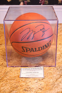 Michael Jordan Signed Basketball W/ COA Spalding Chicago ...