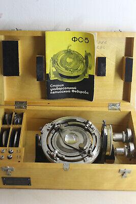 Lomo Microscope Universal Stage Ut5 Tisch Fedorow Fedorov Goniometer