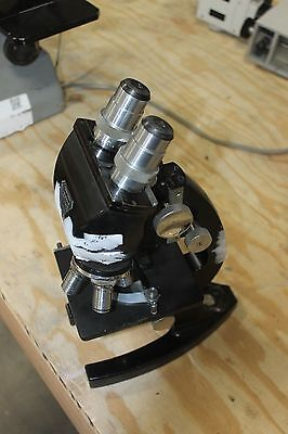 Bausch Lomb Microscope With Objectives And Eye Pieces