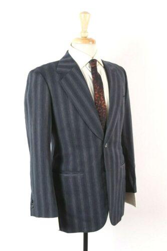 Vintage 70s Wool Gradient Pin Stripe 2 Piece Suit Mens Size 36-38