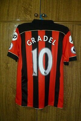 Bournemouth AFC JD Football Shirt Home 2016/2017 #10 Max-Alain Gradel Men Size S image
