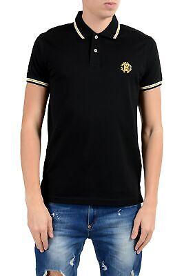 Cavalli Men Shirt - Roberto Cavalli Men's Black Short Sleeve Polo Shirt Size S M L XL 2XL