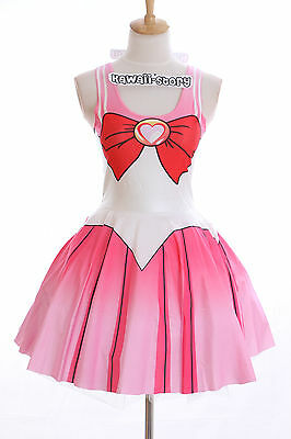 SK-06 Gr. S-M  Sailor Moon Chibimoon rosa Kleid dress Cosplay Manga Kostüm Anime