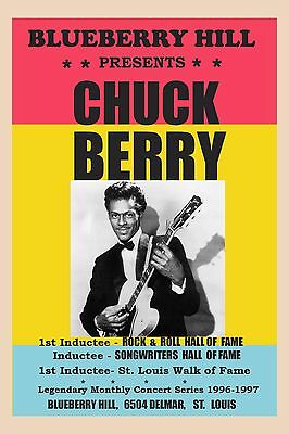 Chuck Berry at Blueberry Hill , St. Louis 1996  12x18