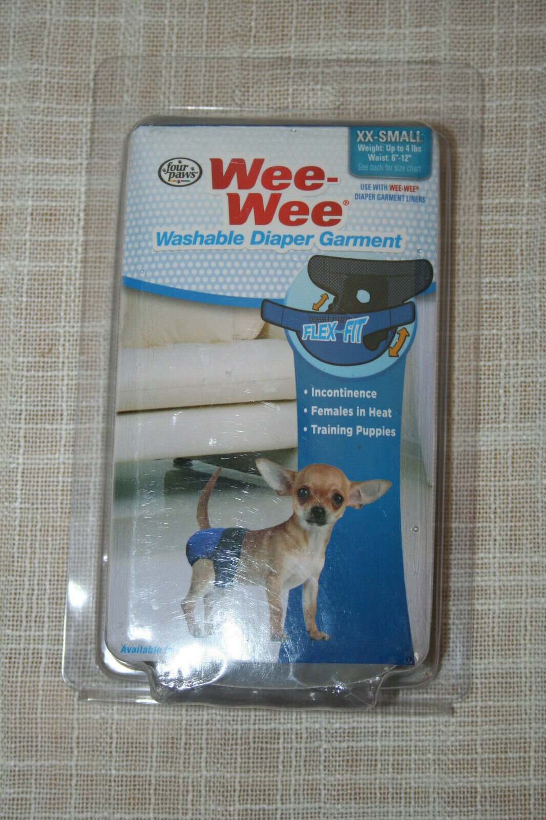 Four Paws Wee Wee Washable Dog Diaper Garment XX Small