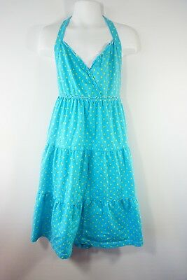 The Childrens Place Blue Yellow Polka Dots Halter Dress Size 10