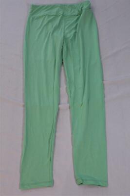 LuLaRoe Women's Solid Leggings SV3 Lime Green Tall & Curvy