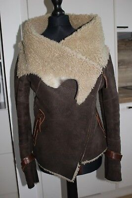 Karl Donoghue size XS brown sheepskin coat size XS RRP £1000