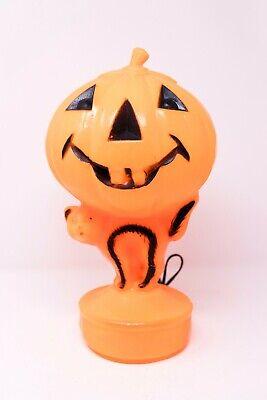 Black Cat Blow Up Halloween Decoration (Vintage Halloween Blow Mold Light Up Jack O Lantern Pumpkin With Black)
