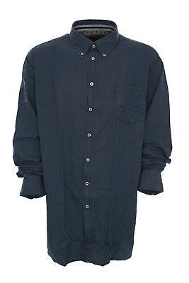 Kitaro Freizeithemd Hemd Shirt Herren Langarm Button Down Kragen Plusgröße