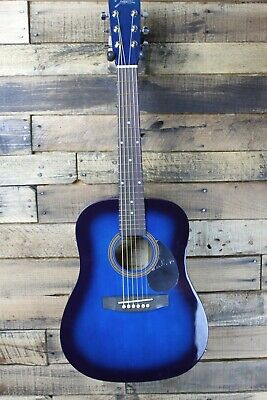 Johnson JG-610-BL  1/2 Size Acoustic Guitar, Blue Burst  #R5508