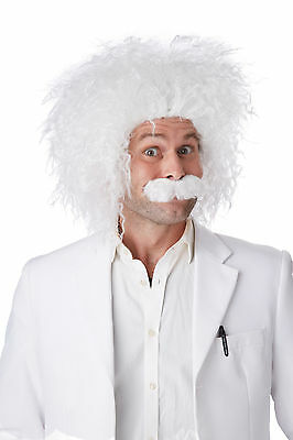 Albert Einstein Scientist Costume Wig and Moustache E=MC2