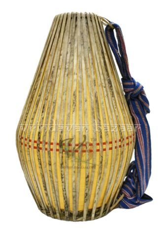 New Yellow Professional Mridangam/ khol made of Clay with free cloth cover