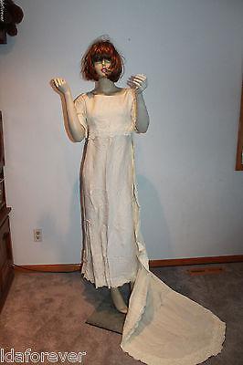 Vintage Wedding Dress 1950 Dress w/detachable train small size
