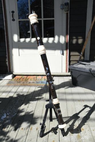Aulos Bass Recorder 533-EE w/ case