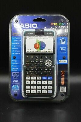 Casio Prizm FX-CG50 3-D Color Display Graphing Calculator New! Fast Shipping!
