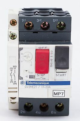 Telemecanique Gv2me21 17-23a 3 Pole 690v Motor Circuit Breaker Used No Box