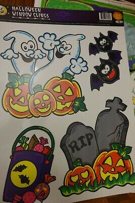 Halloween Decorations Coloring Pages (1 page Vintage Halloween Window Clings  #20 Color Clings)