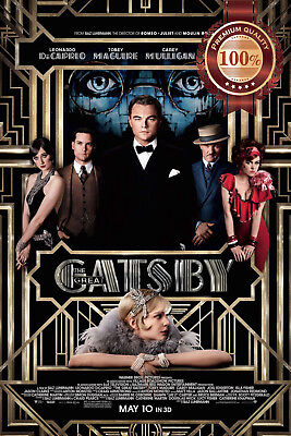 2013 DECAPRIO ORIGINAL CINEMA MOVIE PRINT PREMIUM POSTER (Great Gatsby Dekorationen)