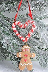 Gisela-Graham-Navidad-Resina-Pan-Jengibre-Man-Candycane-Corazon-Decoracion
