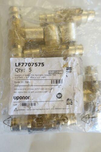 (5)uponor proflex lf brass adapter tee LF7707575/101892
