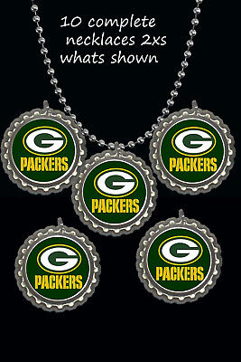 Nfl Party Favors (Green bay Packers football nfl party favors lot of 10 necklaces necklace)