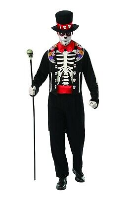 Day of The Dead Man - Adult Costume - Day Of The Dead Men Costume