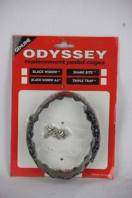 NOS VINTAGE ODYSSEY BMX OLD SCHOOL BICYCLE SHARK BITE PEDAL CAGES GT HUTCH HARO