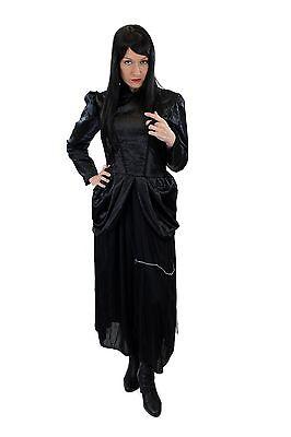 Kleid 80er New Wave Gothic Lolita Barock Hexe Vampirin L002 (Kostüm Kostüm)