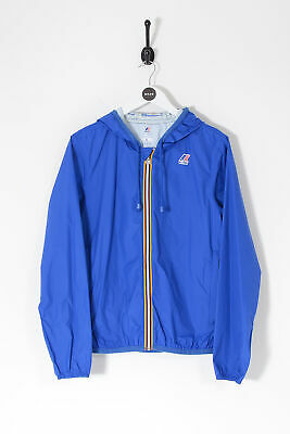 Vintage K-Way Hooded Winkbreaker Jacket Blue (L)