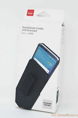 Verizon OEM Shell Holster Combo Case w/ Belt Clip For LG G6 - Black - NEW !!! Black Shell Case Belt Clip