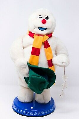 Gemmy Animated Dancing Frosty the Snowman Spinning Snowflakes Figure