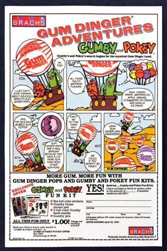 1986 Gumby & Pokey Cartoon Panel art Brach