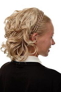 Halbperücke Haarteil geflochtener Haarreif schulterlang Blond Mix wild 90605