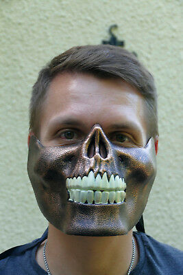 steampunk,maske,halbmaske,fantasy,sci-fi,band,festival,retro,abstrakt,skelett (Skelett Halb Maske)