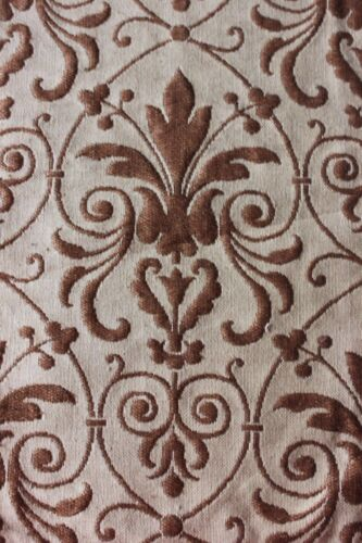 Antique Napoleon III Woven Jacquard Linen Fabric Panel c1850-1870~Frame Layout