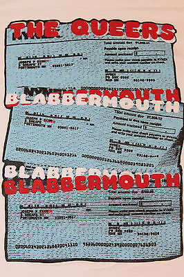Xl   Vtg 90S The Queers Blabbermouth Punk T Shirt   29 30 Lookout Records Punk