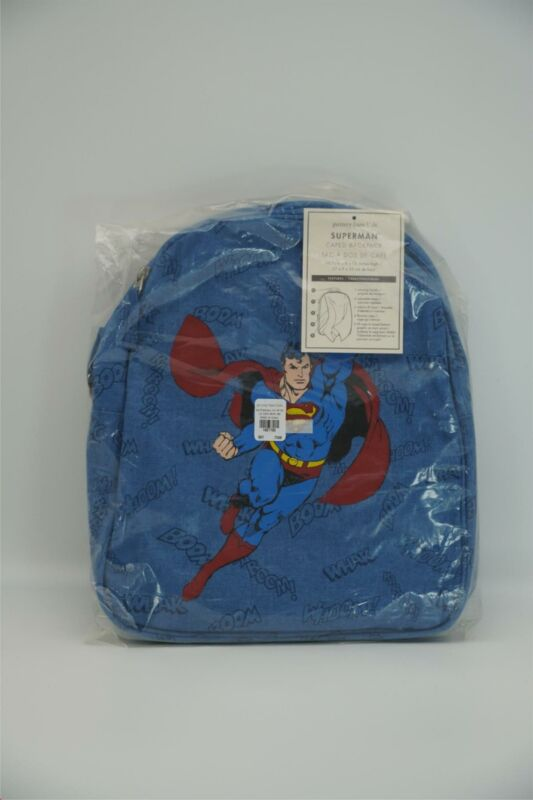 Pottery Barn Kids DC Comics Superman Caped Backpack Small Golden Age Superman