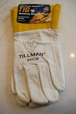 Tillman 24c Top Grain Kidskin 4 Cuff Tig Welding Gloves Medium
