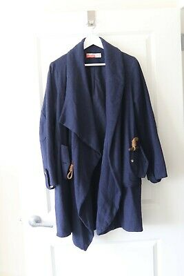 DONORATICO Navy Blue Women Wool JACKET COAT - X-Large - EXCELLENT condition Wool Women Jacket